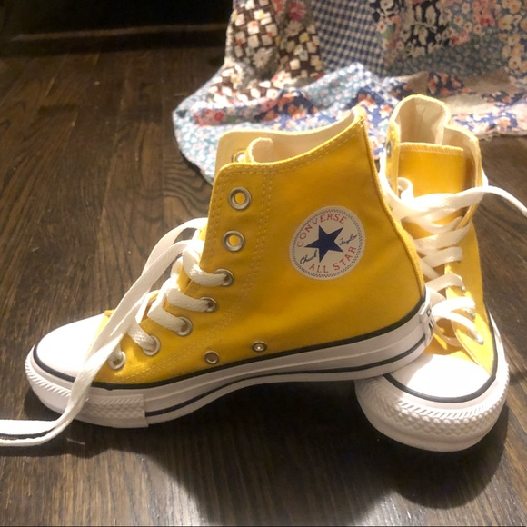 Converse Shoes | Sunflower Yellow High